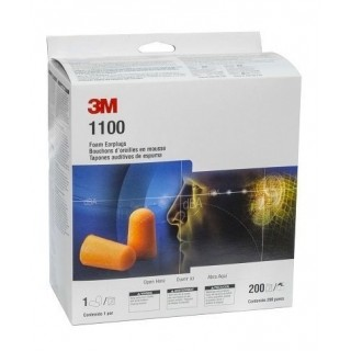 3M 1100 Foam Ear Plugs, 200-Pair