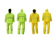 Rainsuit Jacket & Pants PVC w/ Reflective Safe-T